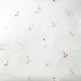 Caselio Bloemen en Vlinderbehang in roze beige