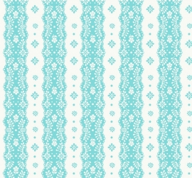 Dentelle stripe aqua behang 2200301