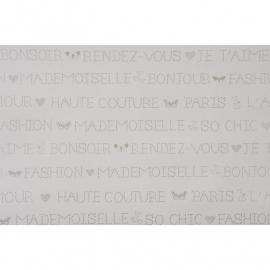 019. Franse woorden in wit/zilver