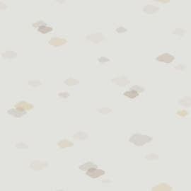 Wolken behang  beige grijs zand