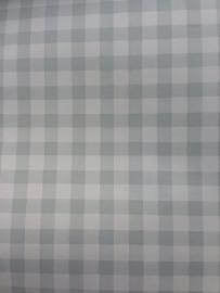 17. Behang per meter Ruitje grijs wit