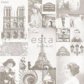 028. Parisfoto's behang lichtbeige