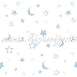 17. Winnie the Pooh Maan en sterrenbehang blauw 71299