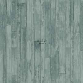 Esta Greenhouse  krijtverf vintage sloophout planken  vergrijsd groen 128840
