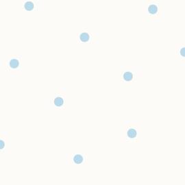 Stippenbehang wit blauw  12603