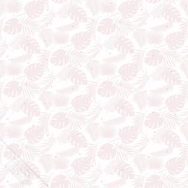 Tropisch bladerbehang roze