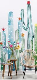 Esta Greenhouse  Bloeiende Cactussen poster XXL groen 158829