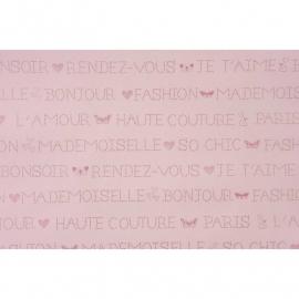 021. Franse woorden in  roze/roze metalic