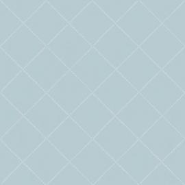 06. Wiebertjes behang blauw wit