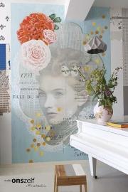 Onszelf Poster Dame in blauw  OZ3714