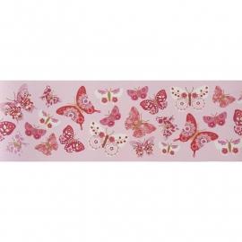 041. Caselio Vlinderrand in framboosrood/roze