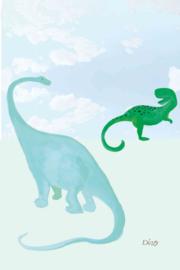 LittleOZP 3773 Dino in de wolken blauw