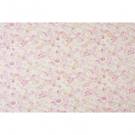 046. Caselio Bloemen en Vlinderstof in roze/grijs/beige