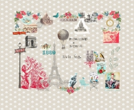 Paris je t'aime beige behang 2200110