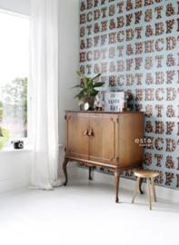 Esta Home #FAB Houten licht letters behang 138851