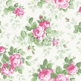 038. Esta Home Rozenbehang in roze/groen