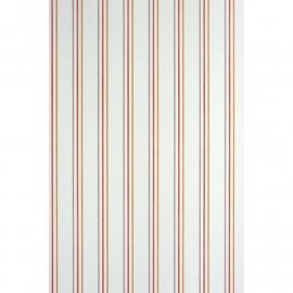 036. Streepjesbehang in wit oranje rood bruin