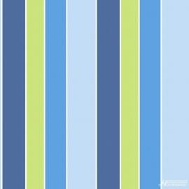 Streepbehang blauw groen 100
