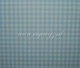 15. Behang per meter Ruitje blauw wit