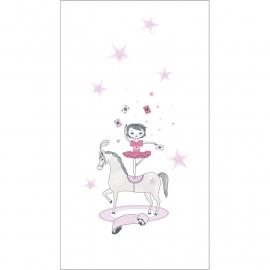 015. Meisje in het circus paneel Roze