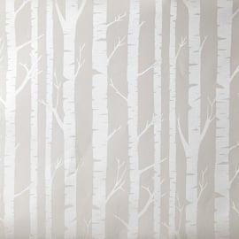Caselio Berkenstambehang in lichtbeige warm parelmoer