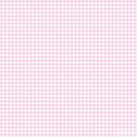 Ruitjesbehang roze wit 105