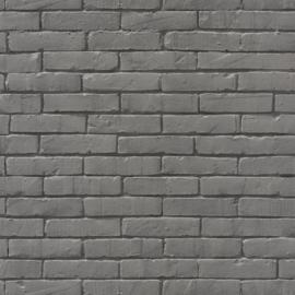 Baksteen behang  antraciet grijs 9007