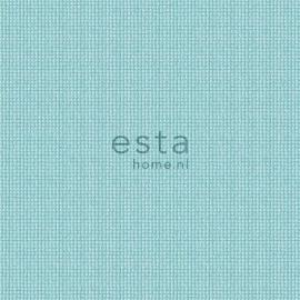055. Esta Home Uni turquoise/lichtteale met stofmotief