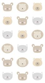 Esta Home Let's Play! WallpaperXL Cute Animal Heads 158932