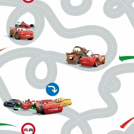 Kids@Home Disney Cars Racetrack behang DF72599