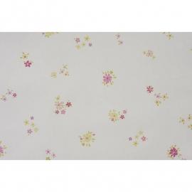 047. Caselio Bloemetjesbehang in roze/lime