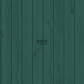 Esta Greenhouse  krijtverf smalle vintage sloophout planken intens smaragd groen 128854