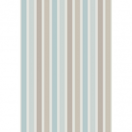 05. Streepjes STOF in beige bruin blauw
