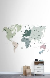 Esta Home Let's Play! PhotowallXL Map of the World for Kids 158929