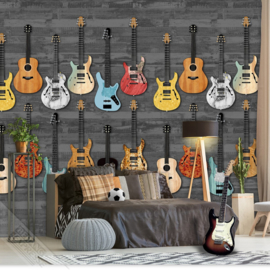Behang Expresse Thomas Wallprint Guitarlife Black INK 7090