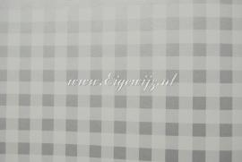 13. Behang per meter Ruitje Zilver/grijs wit
