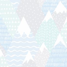Mountains 91052  Grijs blauw mint