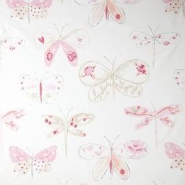 Caselio Vlinderbehang in roze beige wit