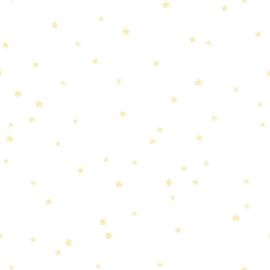 Behang Expresse Charlie Glow In The Dark Sterren behang creme wit goud CR68345