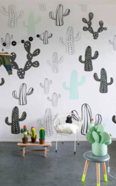 Little OZP 3762 Cactus behang