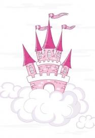 13019 Pink Castle Dutch DigiWalls Olly Fotobehang