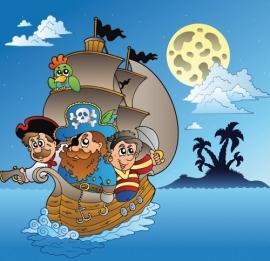 13068 Pirate Adventure Dutch DigiWalls Olly Fotobehang
