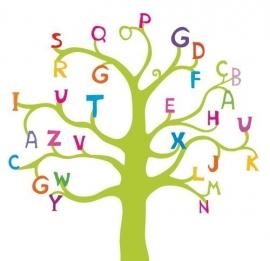 13063 ABC Tree Dutch DigiWalls Olly Fotobehang