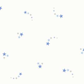 Sterretjesbehang grijs blauw 12590