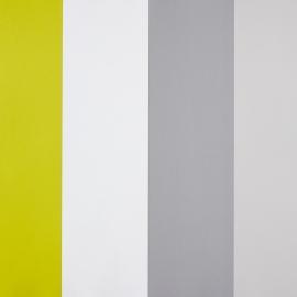 Life STreepbehang geel wit grijs