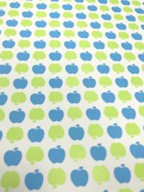 Appeltjes behang in groen blauw  LS10203