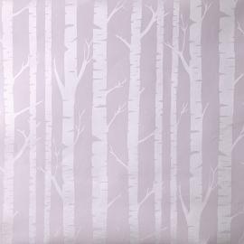 Caselio Berkenstambehang in lila warm parelmoer