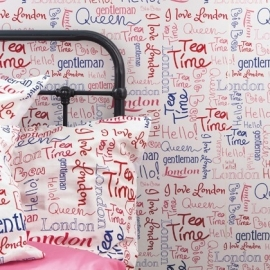Caselio Londen Woorden behang