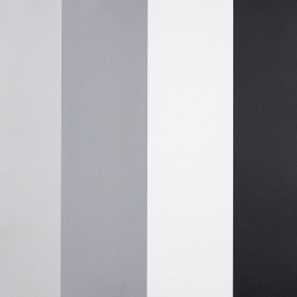 Life Streepbehang zwart lichtgrijs grijs wit