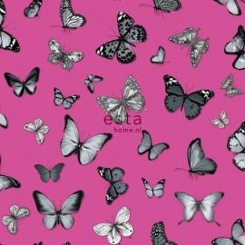 Esta vlinders roze zwart 138511